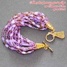 Браслет Фиолетовая россыпь