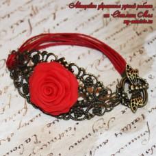 Браслет Алая роза 1
