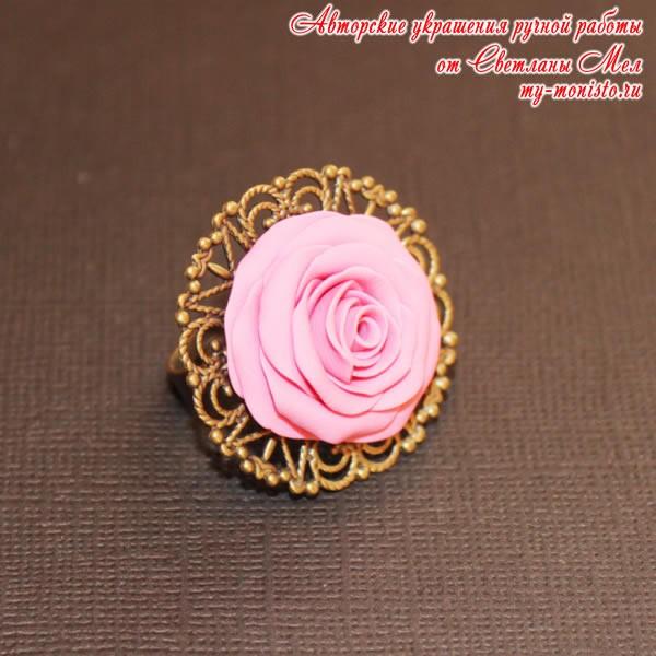 """Кольцо """"Розовая роза"""""""