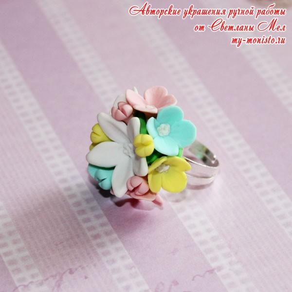 "Кольцо ""Цветочная поляна"""